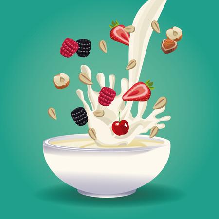 Progettazione grafica dell'illustrazione di vettore dell'icona dell'alimento sano Archivio Fotografico - 90424450