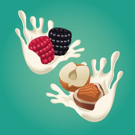 Progettazione grafica dell'illustrazione di vettore dell'icona dell'alimento sano Archivio Fotografico - 90424453