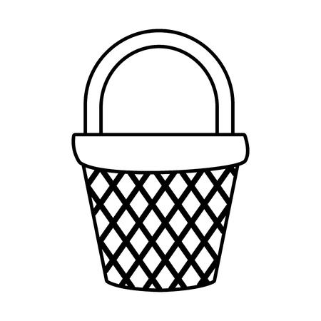Empty basket market icon vector illustration graphic design  イラスト・ベクター素材