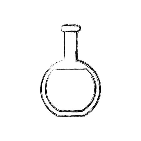 Chemistry flask lab icon vector illustration graphic design