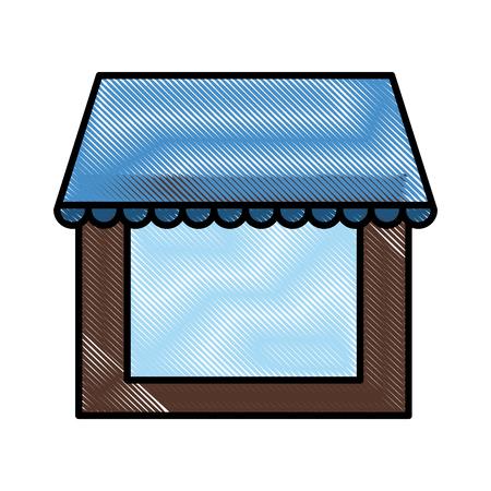 Empty market stall icon vector illustration graphic design
