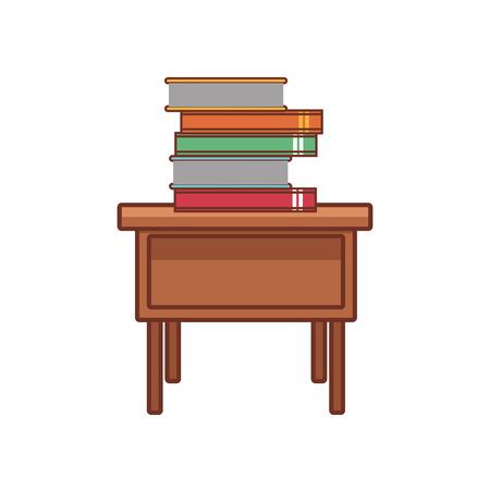 Books on desk icon vector illustration graphic design