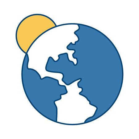 Earth world symbol icon vector illustration graphic design Illustration