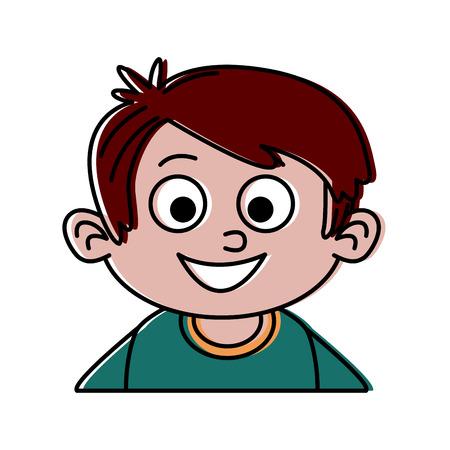 Cute boy cartoon icon vector illustration graphic design Illustration