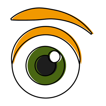 Eye cartoon isolated icon vector illustration graphic design