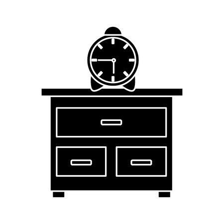 Table clock isolated icon vector illustration graphic design