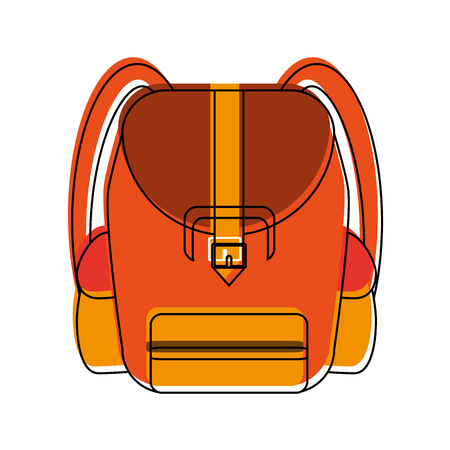 École sac à dos symbole icône vector illustration graphisme