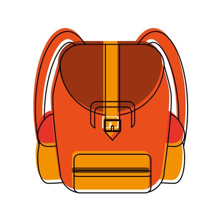 Van het het symboolpictogram van de schoolrugzak vector de illustratie grafisch ontwerp Stock Illustratie