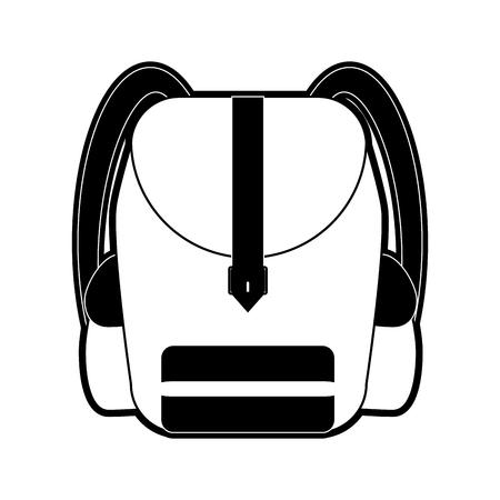 School backpack symbol icon vector illustration, graphic design. Illustration