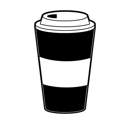 Coffee to go icon vector illustration graphic design Illustration