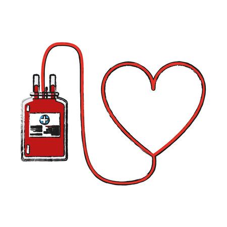 Van de het symboolpictogram van het bloedschenking vector de illustratie grafisch ontwerp