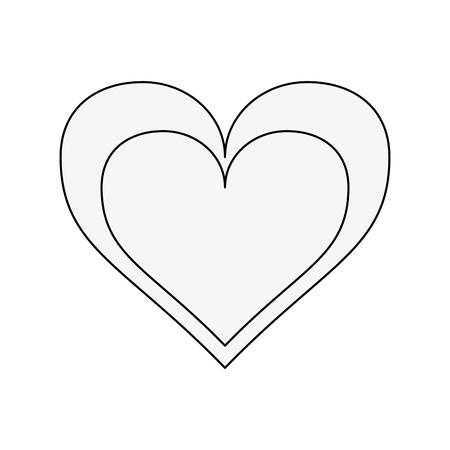 Heart and love symbol icon vector illustration graphic design