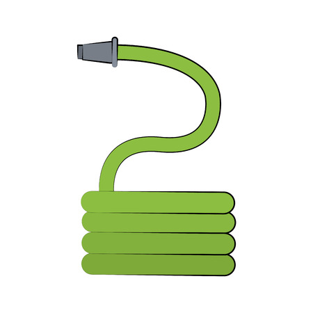 Garden hose tool icon vector illustration graphic design