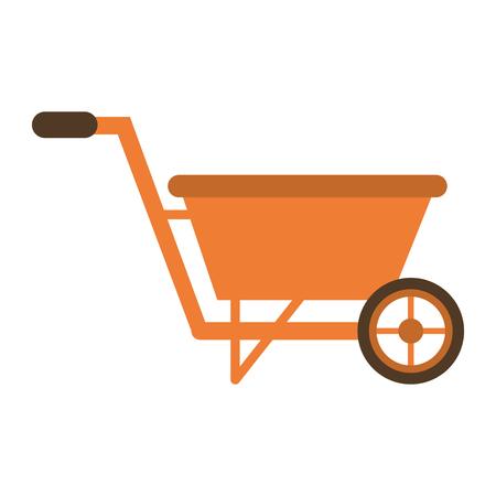 Wheelbarrow construction tool icon vector illustration graphic design