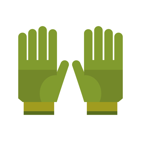 Garden gloves isolated icon vector illustration graphic design