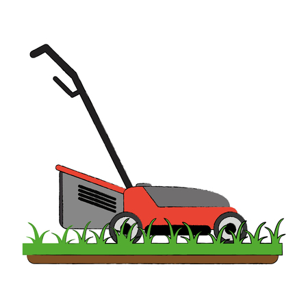 Tondeuse à gazon jardin outil icône vector illustration graphisme