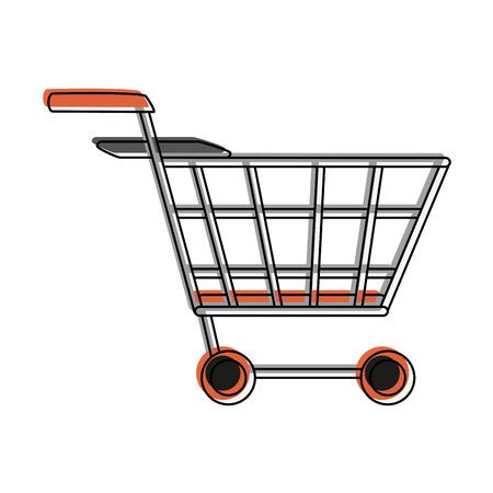 Shopping cart symbol icon vecctor illustration graphic design