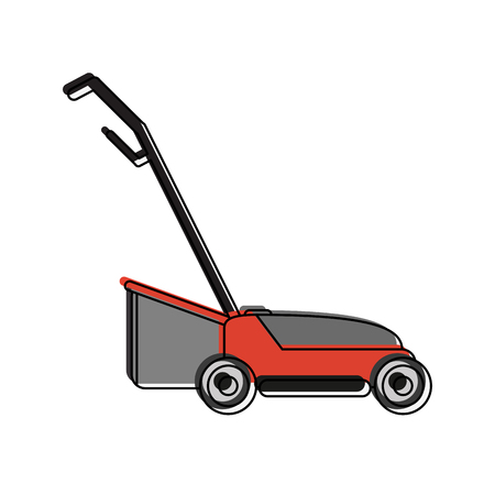 Lawn mower garden tool icon vecctor illustration graphic design Illustration