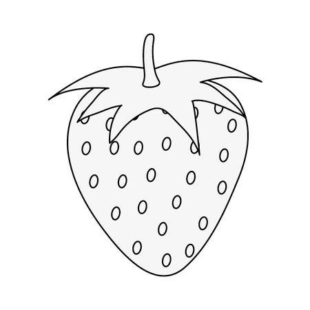 Strawberry sweet fruit icon vector illustration graphic design