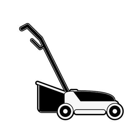 Lawn mower garden tool icon vector illustration graphic design