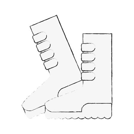 Gardener boots isolated icon vector illustration graphic design Illustration