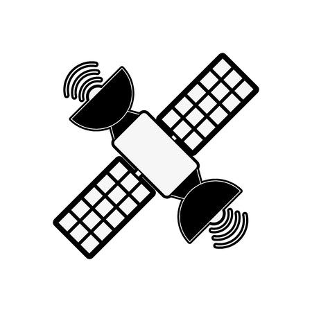 Space satellite technology icon vector illustration graphic design Illustration