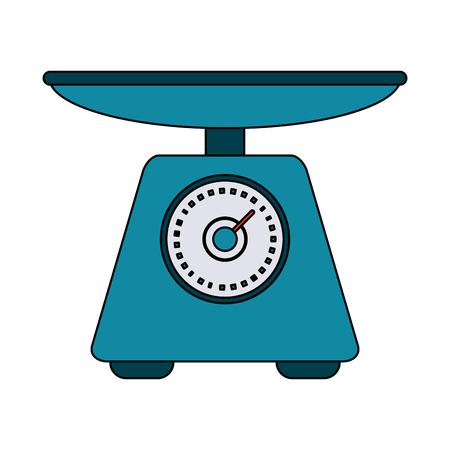Icône de l'appareil alimentaire échelle icône illustration vectorielle