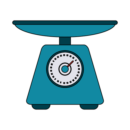 Food scale device icon vector illustration graphic design Illustration