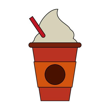 Het heerlijke grafische ontwerp van de het pictogram vectorillustratie van de capuccinokop