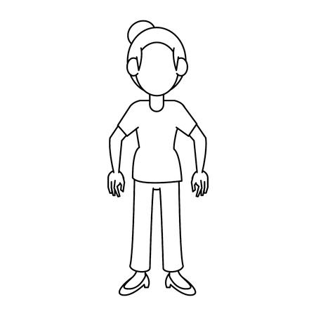 Woman cartoon avatar icon vector illustration graphic design Illustration
