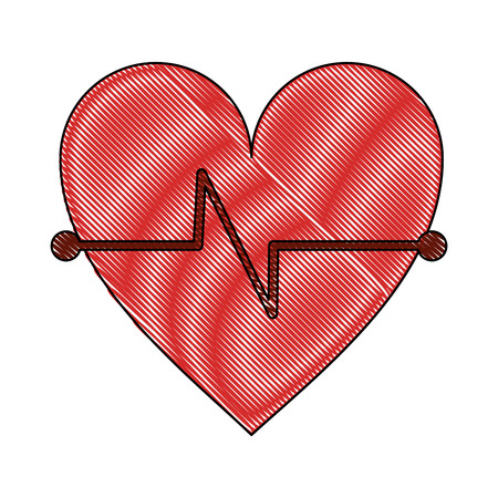 Heartbeat medical symbol icon vector illustration graphic design