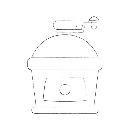 Antique coffee grinder icon vector illustration graphic design