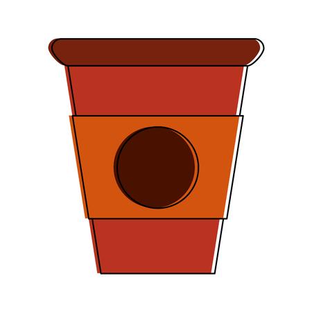 Heerlijk grafisch de illustratie grafisch ontwerp van het cappuccinokoppictogram Stock Illustratie