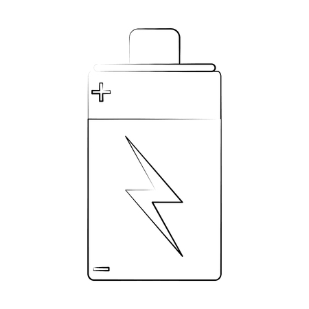 battery rechargeable symbol icon vector illustration graphic design