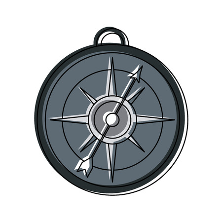 Old navigation compass icon vector illustration graphic design Ilustração
