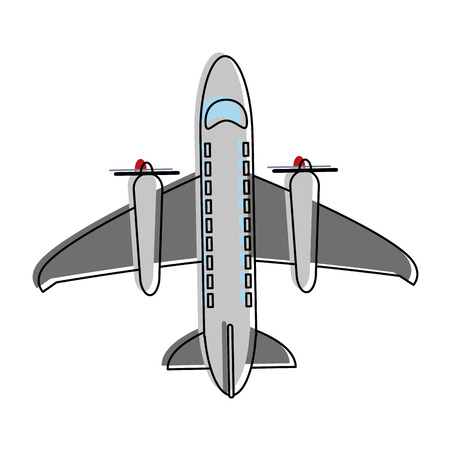 Airplane with turbines icon vector illustration graphic design Illustration