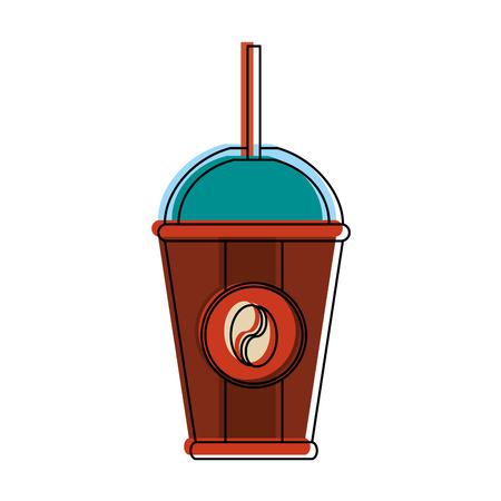 Cold coffee to go icon vector illustration graphic design