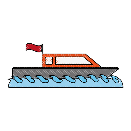 small boat isolated icon vector illustration graphic design