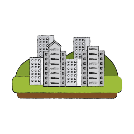 City buildings symbol icon vector illustration graphic design Illustration
