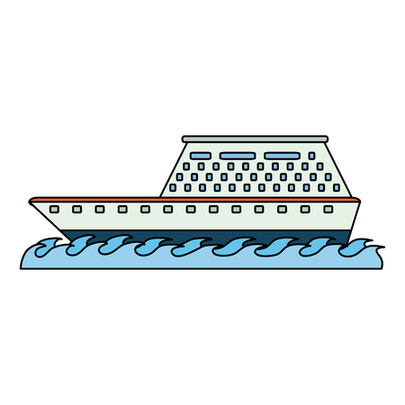 Luxury cruise ship icon vector illustration graphic design