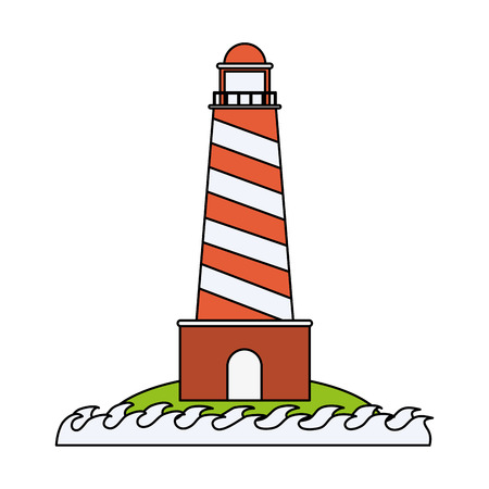 Lighthouse isolated symbol icon vector illustration graphic design Illustration