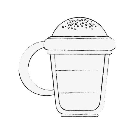 Van de het pictogramillustratie van de cappuccino het heerlijke kop vector grafische ontwerp
