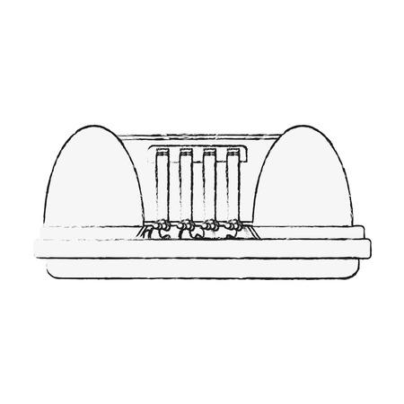 Eletric dam energy icon vector illustration graphic design Vettoriali
