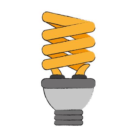 Bulb spiral energy icon vector illustration graphic design Ilustração