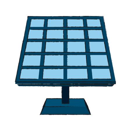 Solar panel energy icon vector illustration graphic design