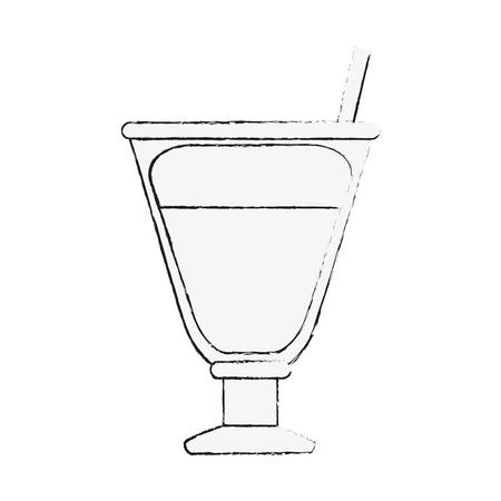 Capuccino delicious cup icon vector illustration graphic design Stock Illustratie