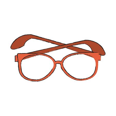 Executive glasses lens icon vector illustration graphic design