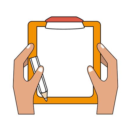 Checklist with pen icon vector illustration graphic design