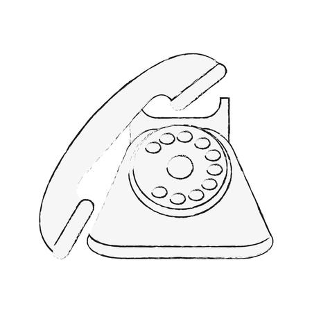 Vintage telephone symbol icon vector illustration graphic design  イラスト・ベクター素材