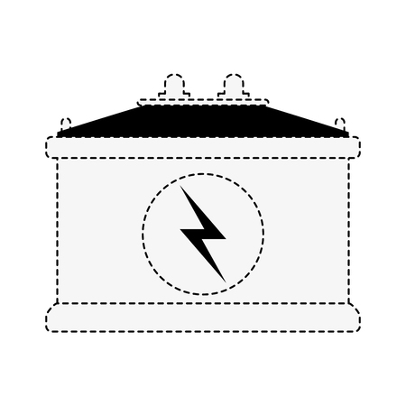 Car battery isolated icon vector illustration graphic design